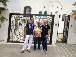 With the artist Abbas al Al-Mosawi at his studio in Bahrain