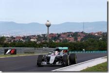 Lewis Hamilton nelle prove libere del gran premio d'Ungheria 2016
