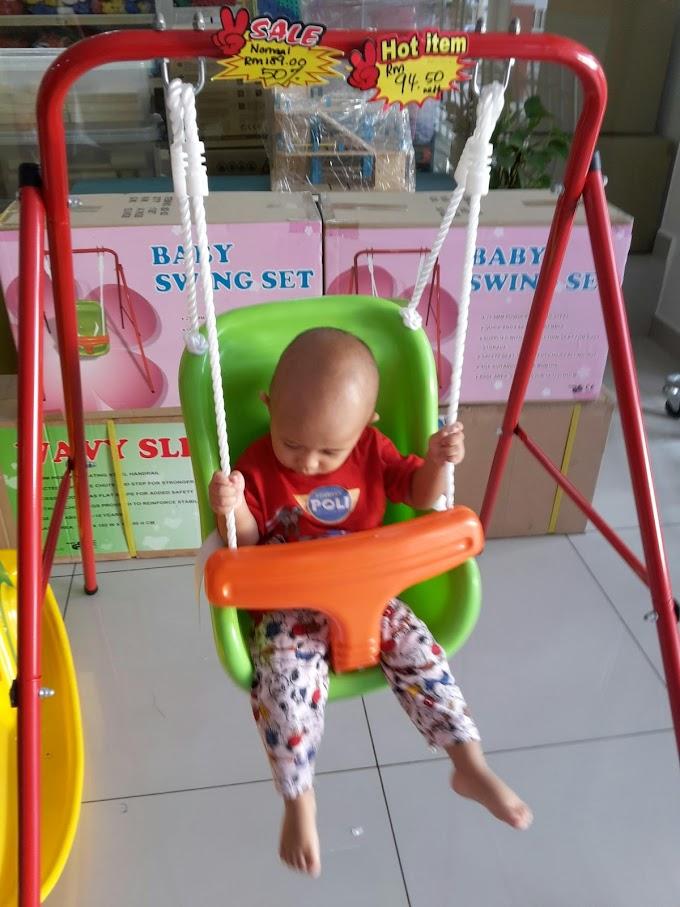 Gelongsor Buai Anak Untuk Main Letak Dalam Rumah !