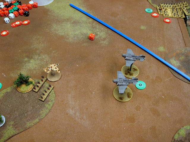 A Marine Tbolt attempt a ground attack but is CAPed out of the sky.