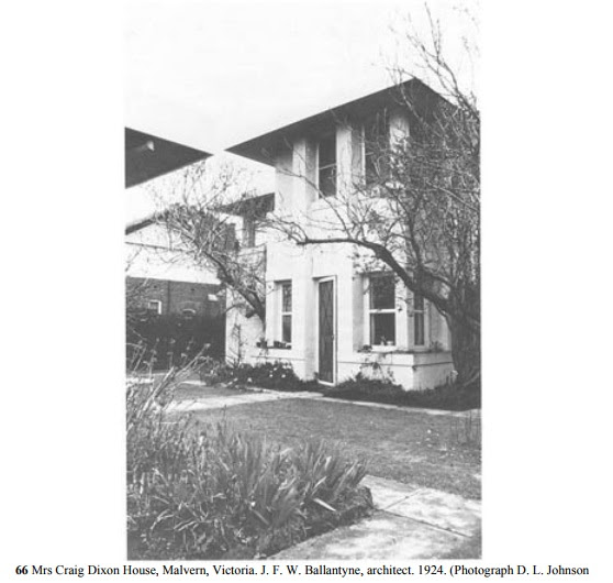 Original Mrs. Craig Dixon House, Malvern VIC