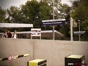 Neuwirtshaus (Porscheplatz) station stop for the Porsche Museum.