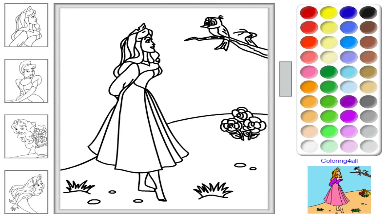 Free Disney Princess Online Coloring Pages Game For Kids Youtube