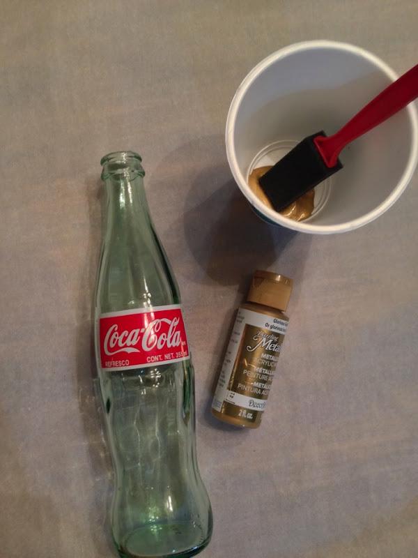 Painting a coke bottle