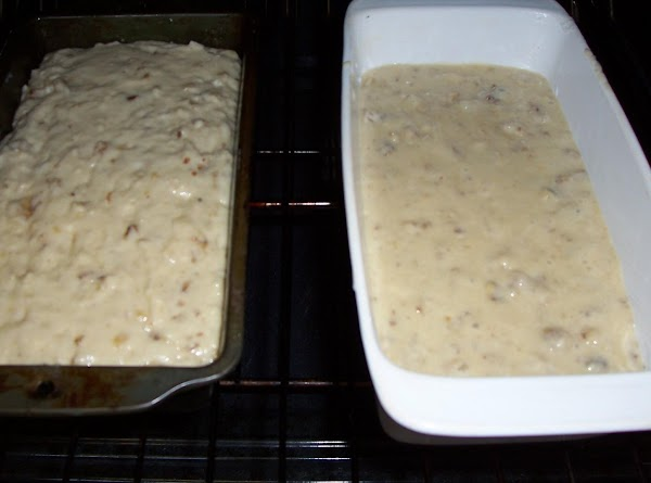 Turn into a greased 9x5x3 loaf pan or divide batter between 2 greased #2...