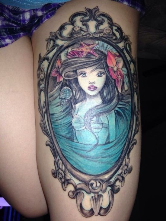 pequena_sereia_quadro_coxa_tatuagem