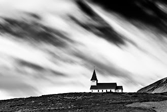 Photo: This is a very special images for me on so many levels. First of all, the place itself was as spiritual as it looks in the picture.There is simply something supernatural about these Icelandic churches. Second of all, how often do you visit a town that bears your name? Well, this one bears mine! Pretty cool no? Actually, not so much. I think vik means something like a bay or a cove in Icelandic so there are many other places with similar names. Anyway. have a great Sunday my fellow Googlers!  And of course, this is my entry to #SacredSunday curated by +Charles Lupica +Manfred Berndtgen +Bill Wood +Robyn Morrison and +Margaret Tompkins   #FineArtPls #BWFineArtLE #Monochrome