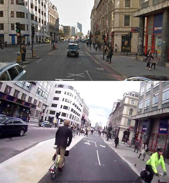 Londres abre su nuevo super carril bici CS6 Norte-Sur, este es el resultado