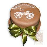 21. kép: Ünnepi torták - Bicikli cukormázas szalagos torta