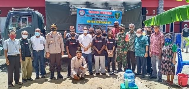Peduli Kemanusiaan, Babinsa Gunung Seteleng Lepasan Bantuan Kemanusiaan Korban Bencana NTT