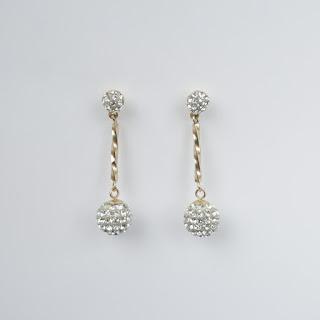 14K Gold & Stone Pendant Earrings