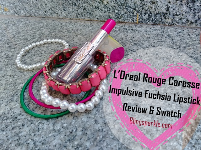 loreal rouge caresse impulsive fuchsia review and swatch