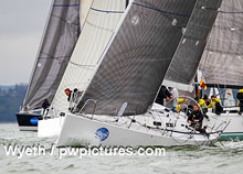J/109 sailing Hamble Winter Series