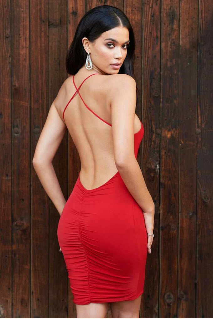 show back gown