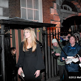 WWW.ENTSIMAGES.COM - Natascha McElhone  arriving at    The Charles Finch & Chanel Pre-BAFTA Dinner at Annabel's in Berkeley Square London February 9th 2013                                                      Photo Mobis Photos/OIC 0203 174 1069