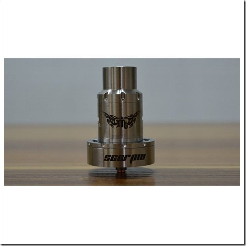 rulien scorpio rdta rebuildable dripper tank atomizer silver authentic 3 %25255B5%25255D - 【新製品】自動コイル巻機Pilot Vape Coil Magician Automatic Coil Jigとボトムフローデザインが変わったRulien Scorpio RDTA【ジオングっぽい】