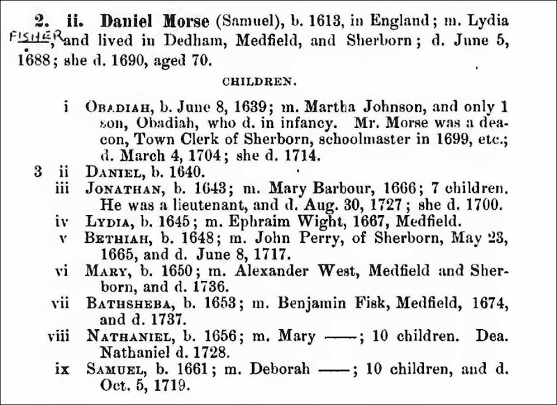 MORSE_Daniel list of children