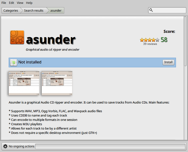 Install Asunder from Software Manager