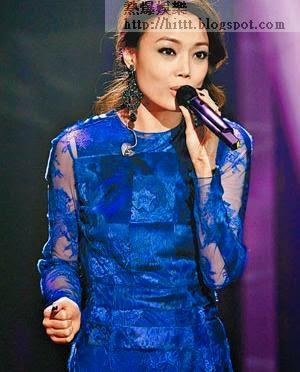 容祖兒前晚在華語歌曲排行榜頒獎禮取得佳績。