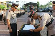 Kapolresta Banda Aceh Trisno Riyanto S.H, Pimpin Sertijab Kasat Lantas Baru