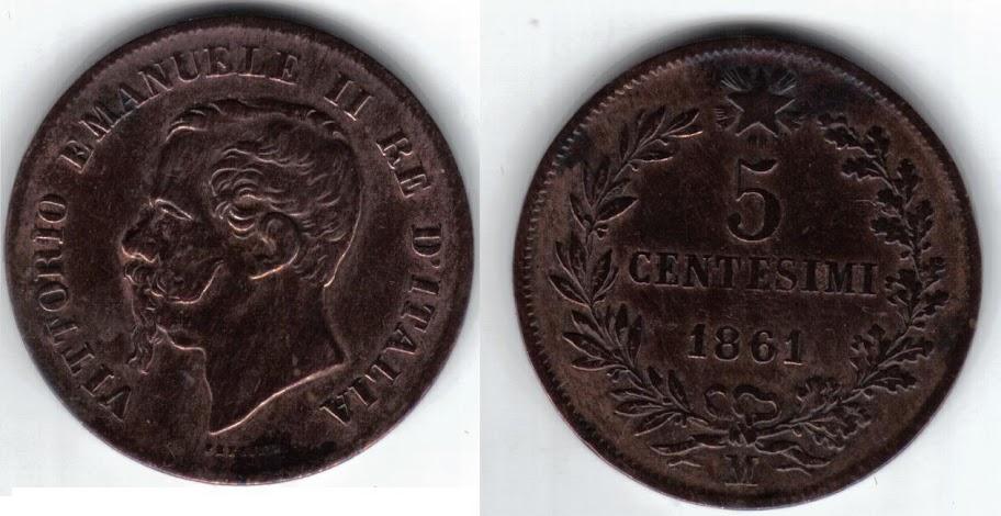 Mi colección de monedas italianas. 5%20centesimi%201861%20M