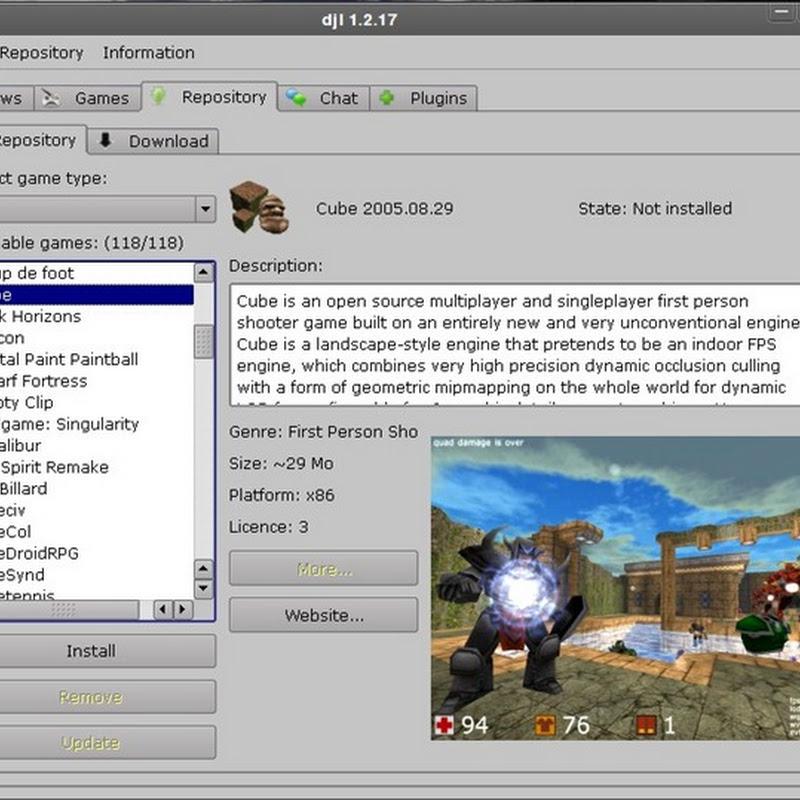 DJL gestor de paquetes para juegos al estilo de Synaptic o Yum .