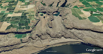 Potholes Cataract and Frenchman Springs Coulee - eroded by the Ice Age Floods (GoogleEarth views)