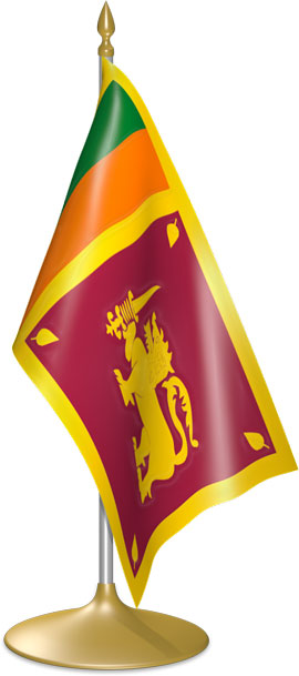 Sri Lankan table flags - desk flags