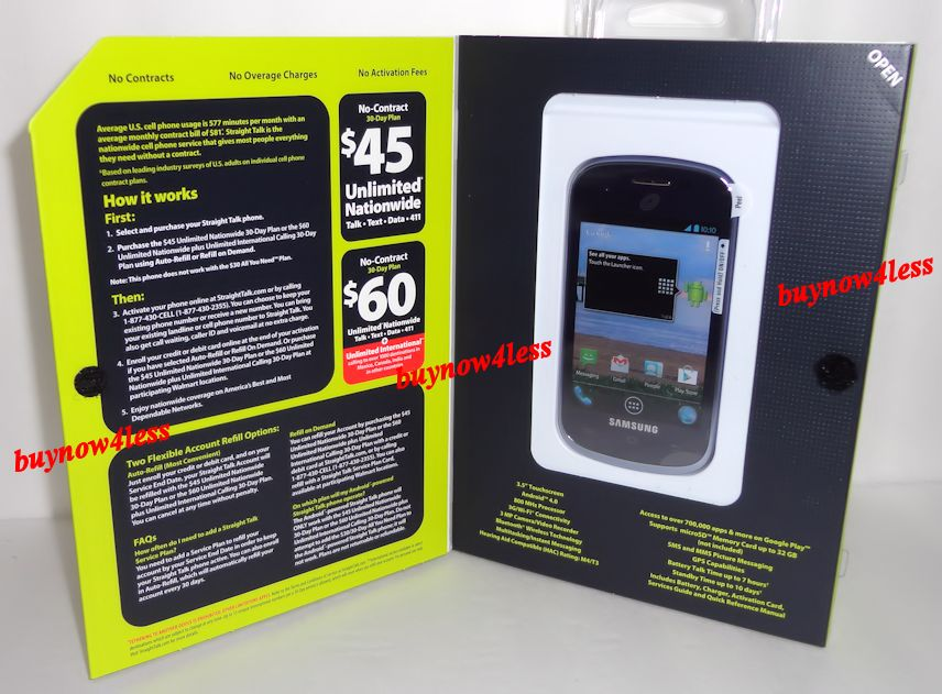 Details about New STRAIGHT TALK SAMSUNG GALAXY CENTURA CDMA 3G Prepaid