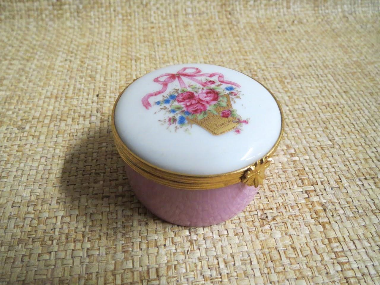 Limoges Pink Pill Jar