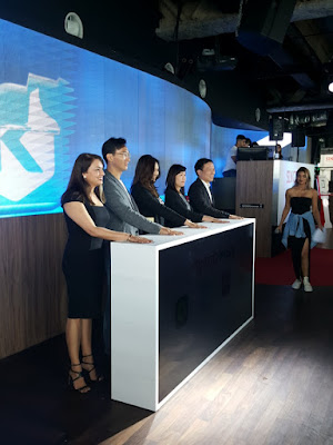 Stakeholders in Singtel Music participate in the launch ceremony.