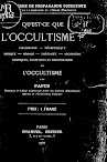 Qu'est ce Que L'Occultisme (1901,in French)