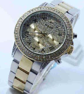 Jual Jam Tangan Rolex chrono aktif kombiGold