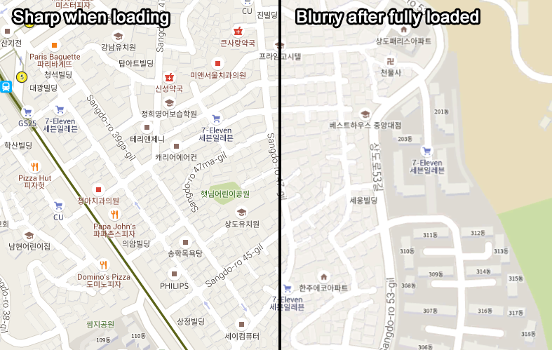 Google Maps Rendering On South Korea Region Is Blurry Maps Palidziba