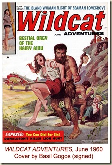 WILDCAT ADVENTURES, June 1960. Cover by Basil Gogos