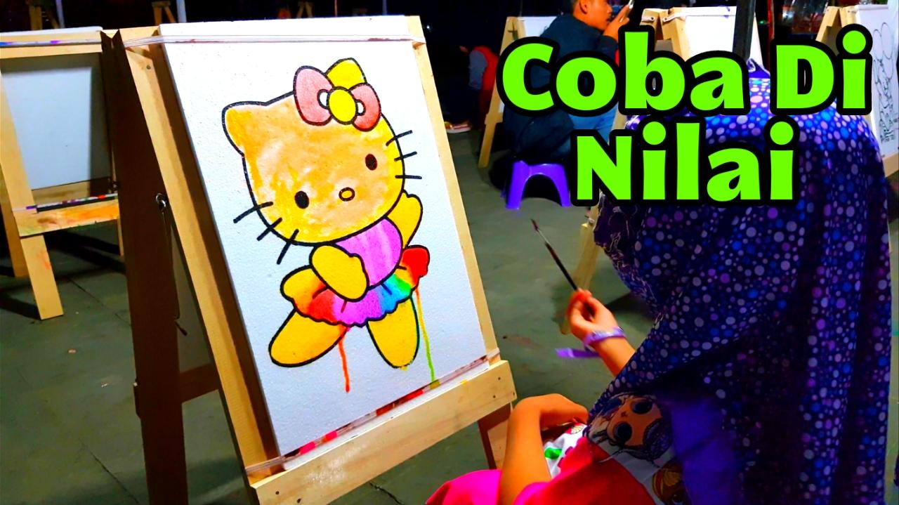 Nafis Wq Mewarnai Hello Kitty Dengan Cat Air Coloring Styrofoam