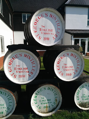St George's Distillery barrels