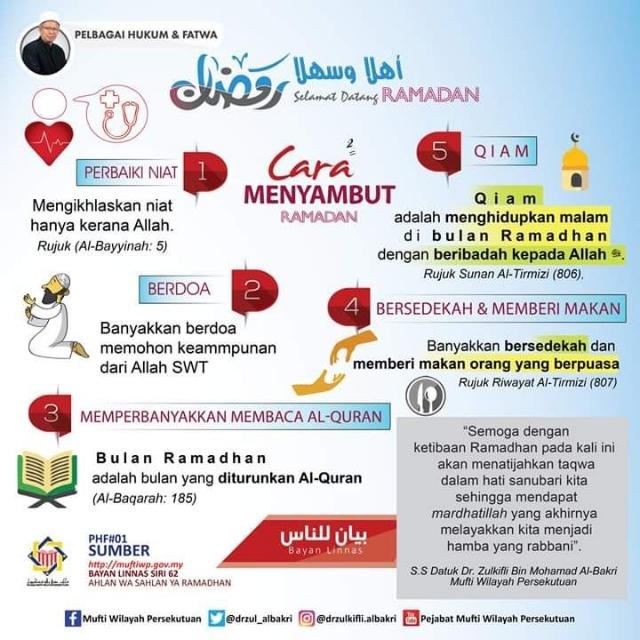 5 Cara Sambut Ramadhan
