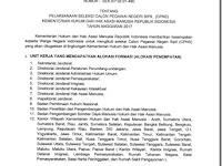 Pengumuman Resmi Seleksi Penerimaan CPNS di Kementerian Hukum dan HAM (Kemenkumham) Tahun 2017