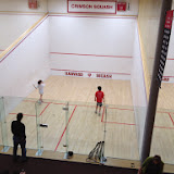 Brendan and Megan playing in Group B of the 2014 Kidsquash Tournament.