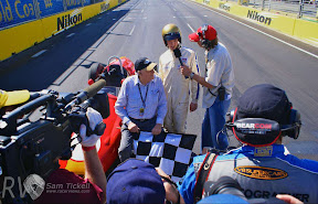 Sir Jack Brabham and grandson Sam Brabham recreate Sir Jack's  finish at Sebring to win his first F1 Championship