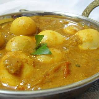 Quail / Kadai Egg Masala   Side dish for Roti /Naan (Indian Flat Bread).