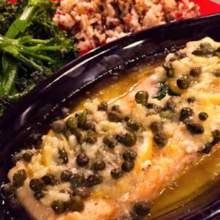 Dave's Baked Salmon with Garlic-Butter Sauce.