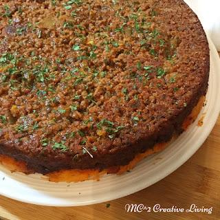 Upsidedown Ground Beef Cake