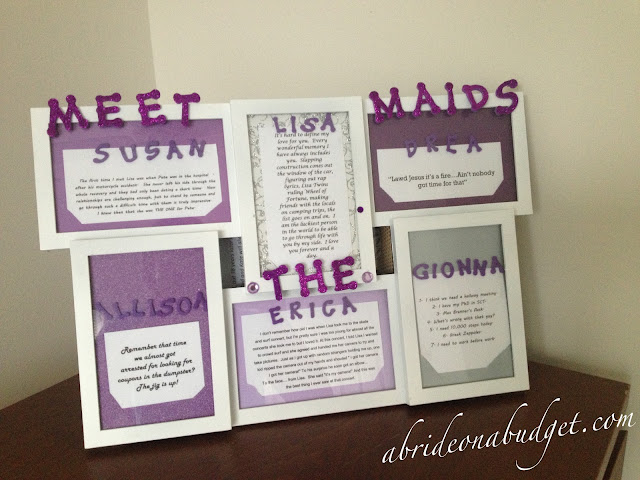 meet the bridal party frames