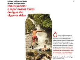 Coca-Cola faz campanha no Dia Mundial da Água