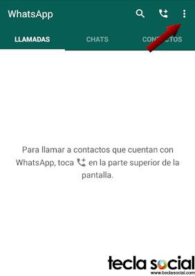 WhatsApp - Menú ajustes