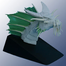 "Photo: ""Tête de dragon""  Création en FIMO, DURO, MAGIC SCULPT"