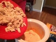 Add chicken to crock pot.