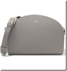 APC Demi Lune Leather Shoulder Bag